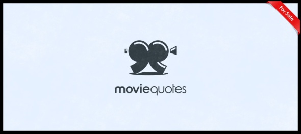 MovieQuotes logo design by Janis Ancitis