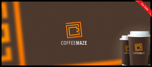 Coffee Maze Logo Design Janis Ancitis