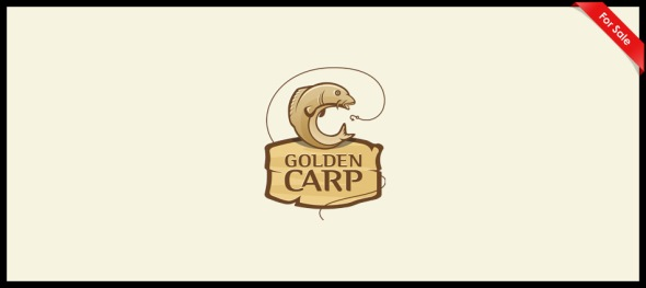 Golden Carp Logo Design by Ancitis
