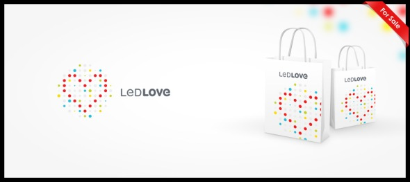 Led Love logo design by Ancitis
