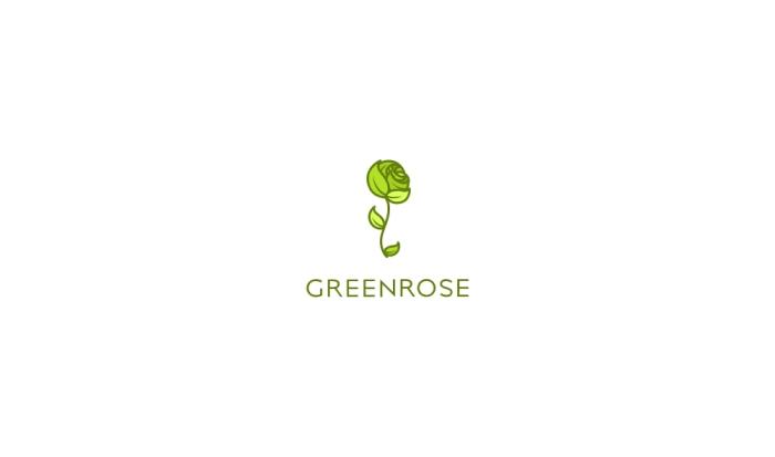 GreenRoseLogoDesignAncitis