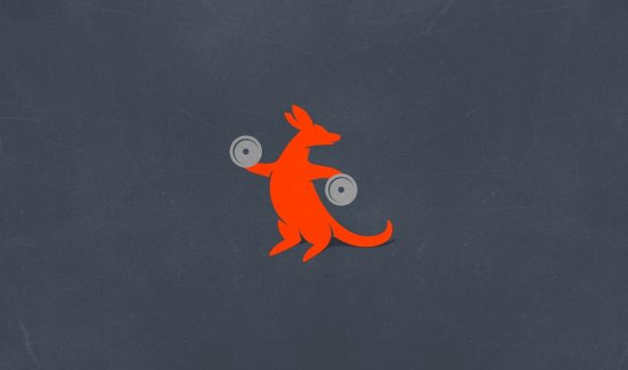 Kanga Gym Logo Design by Ancitis